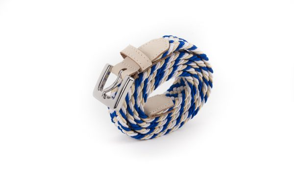 vertical bleu blanc roulee