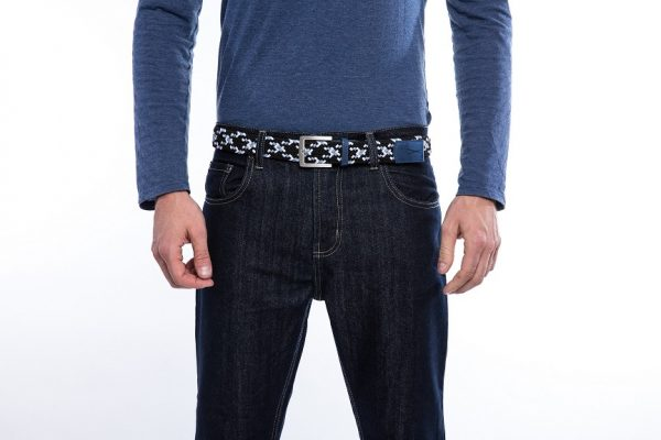 ceinture made in france blanc bleu laloop
