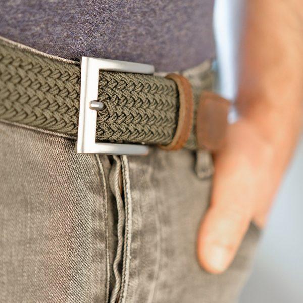 ceinture made in france kaki portee laloop