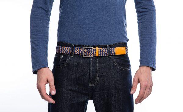 ceinture made in france orange bleu laloop