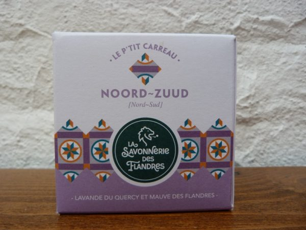 savon artisanal nord naturel mauve lavande
