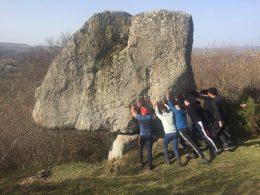 Sancy-rando, sortie nature en Auvergne en groupe, groupe pause