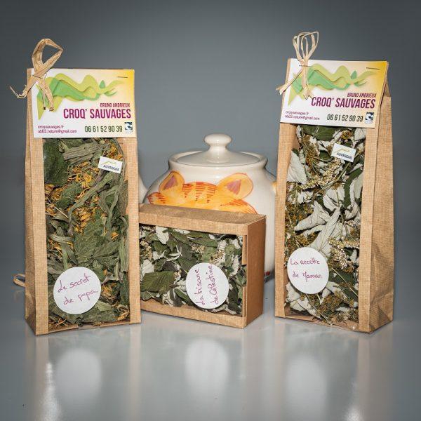 tisane mélange de plantes sauvages croqsauvage,