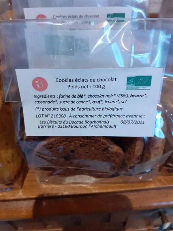 la boite à biscuits à murat, des cookies artisanaux, les ingrédients