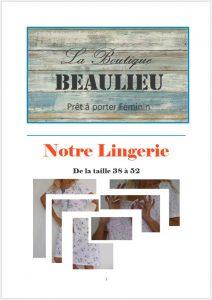 vêtement féminins bourges, beaulieu, lingerie, affiche catalogue