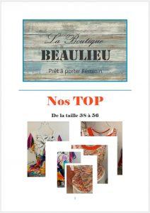vêtement féminins bourges, beaulieu, top, affiche catalogue