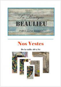 vêtement féminins bourges, beaulieu, veste, affiche catalogue